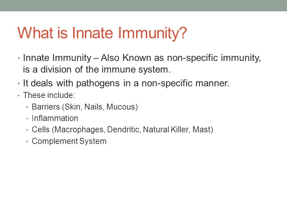 What is Innate Immunity.