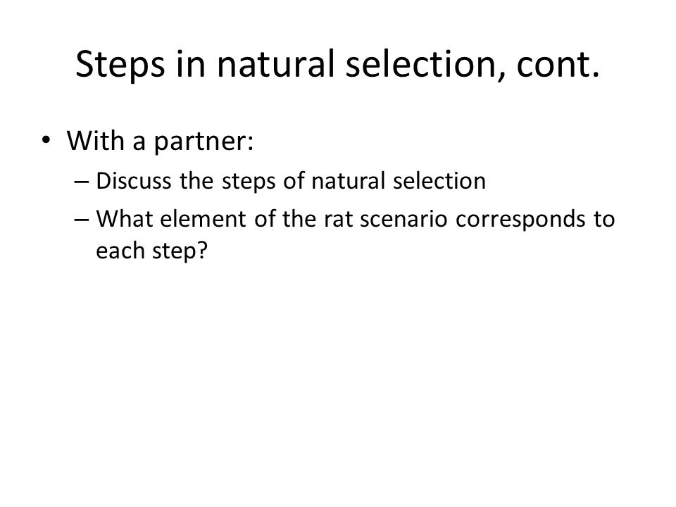 Clicker Question Is Warfarin resistance in rats an example of natural selection? A.Yes B.No
