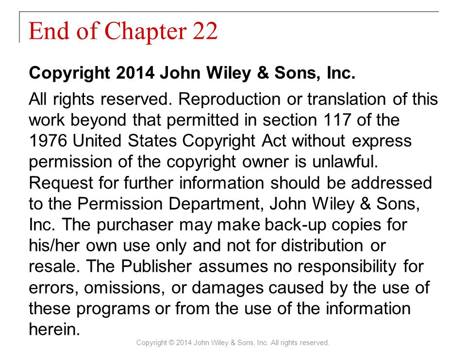 Copyright 2014 John Wiley & Sons, Inc.All rights reserved.
