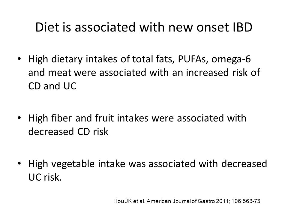 What is the Link Between Diet, Dysbiosis, and IBD.