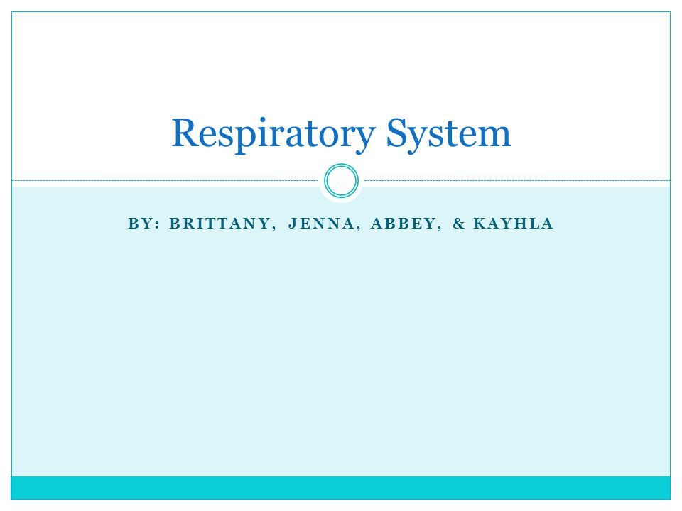 Functions of Respiratory System 1.