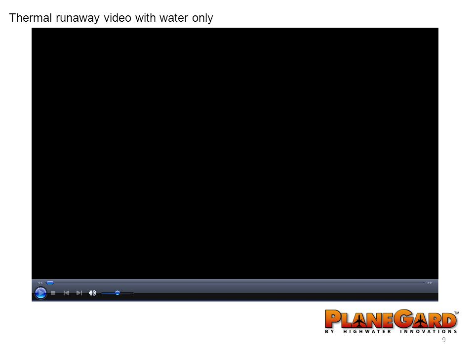 9 Thermal runaway video with water only