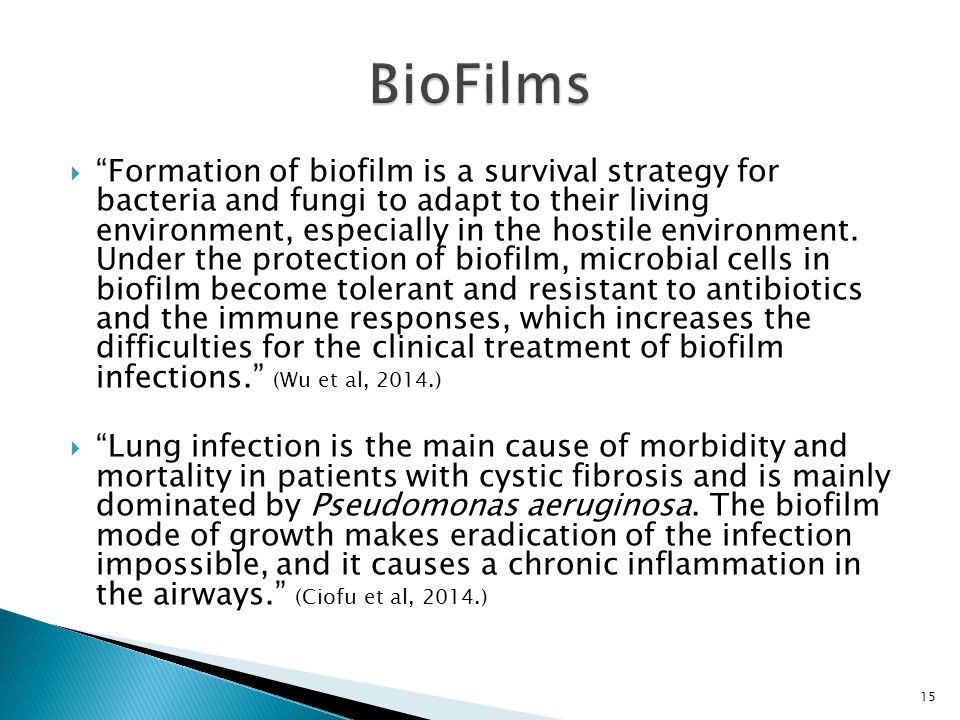 """ """"Formation of biofilm is a survival strategy for bacteria and fungi to adapt to their living environment, especially in the hostile environment. Und"""