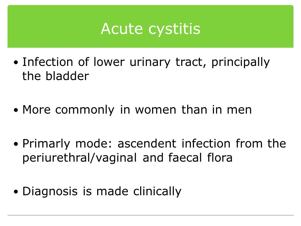 Symptoms Urethral discharge, dysuria Obstructive voiding symptoms in recurrent infection 40% of gonococcal urethritis are asymptomatic