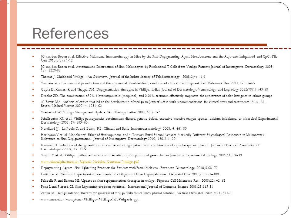 References JG van den Boorn et al.