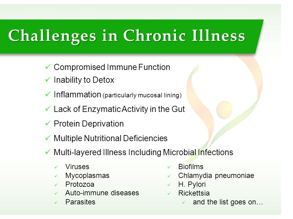 Compromised Immune Function Inability to Detox Inflammation (particularly mucosal lining) Lack of Enzymatic Activity in the Gut Protein Deprivation Mu
