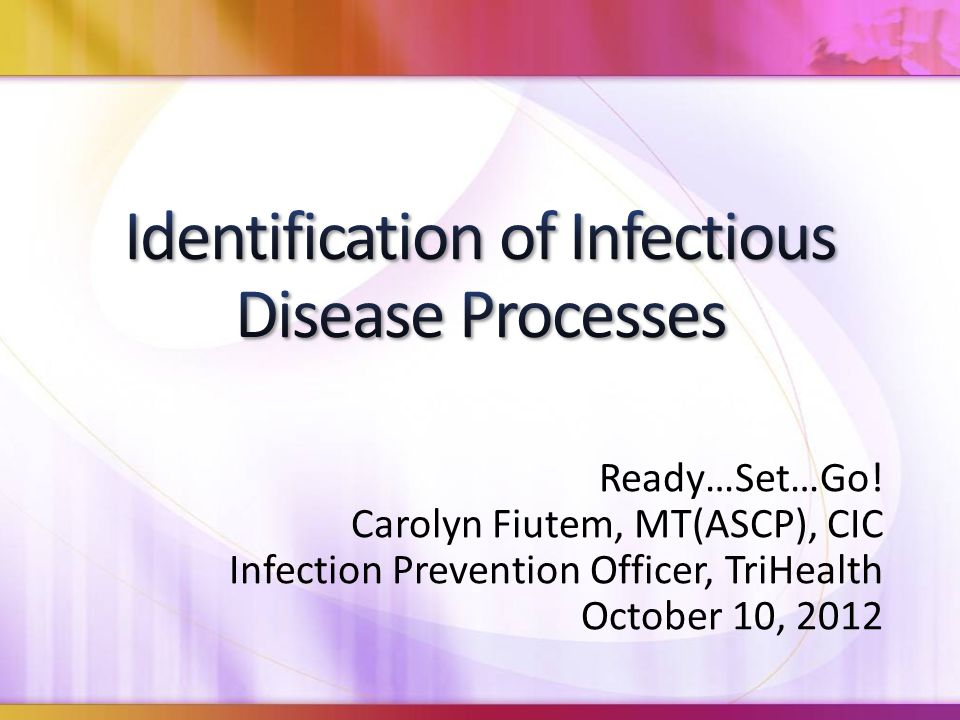 Ready…Set…Go! Carolyn Fiutem, MT(ASCP), CIC Infection Prevention Officer, TriHealth October 10, 2012