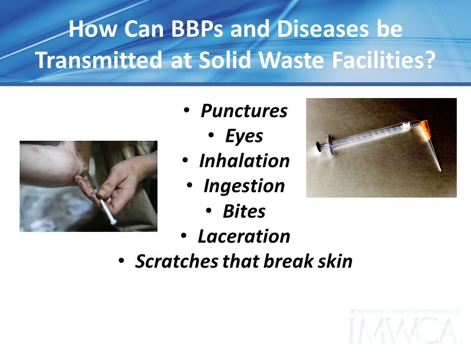 How Can BBPs and Diseases be Transmitted at Solid Waste Facilities.