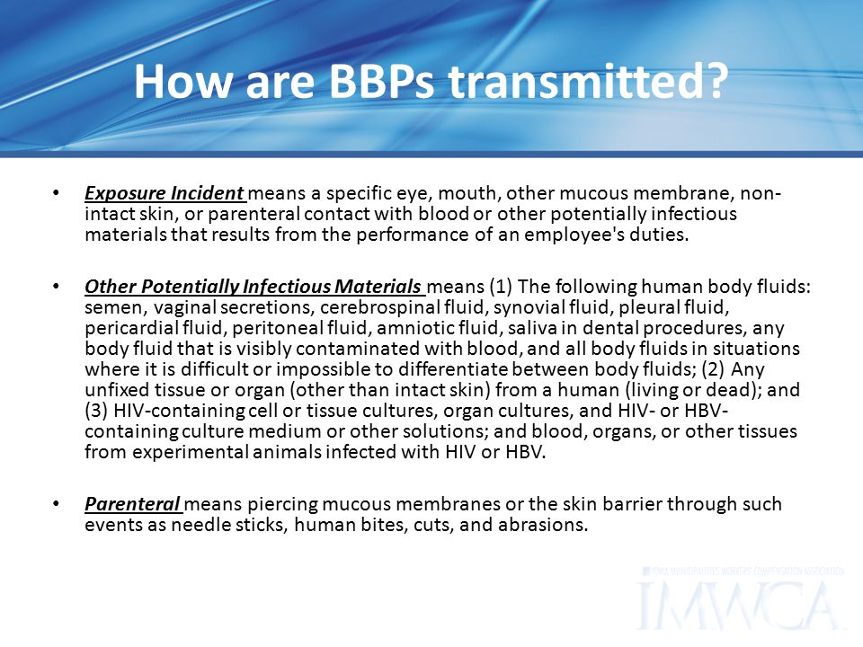 How are BBPs transmitted.