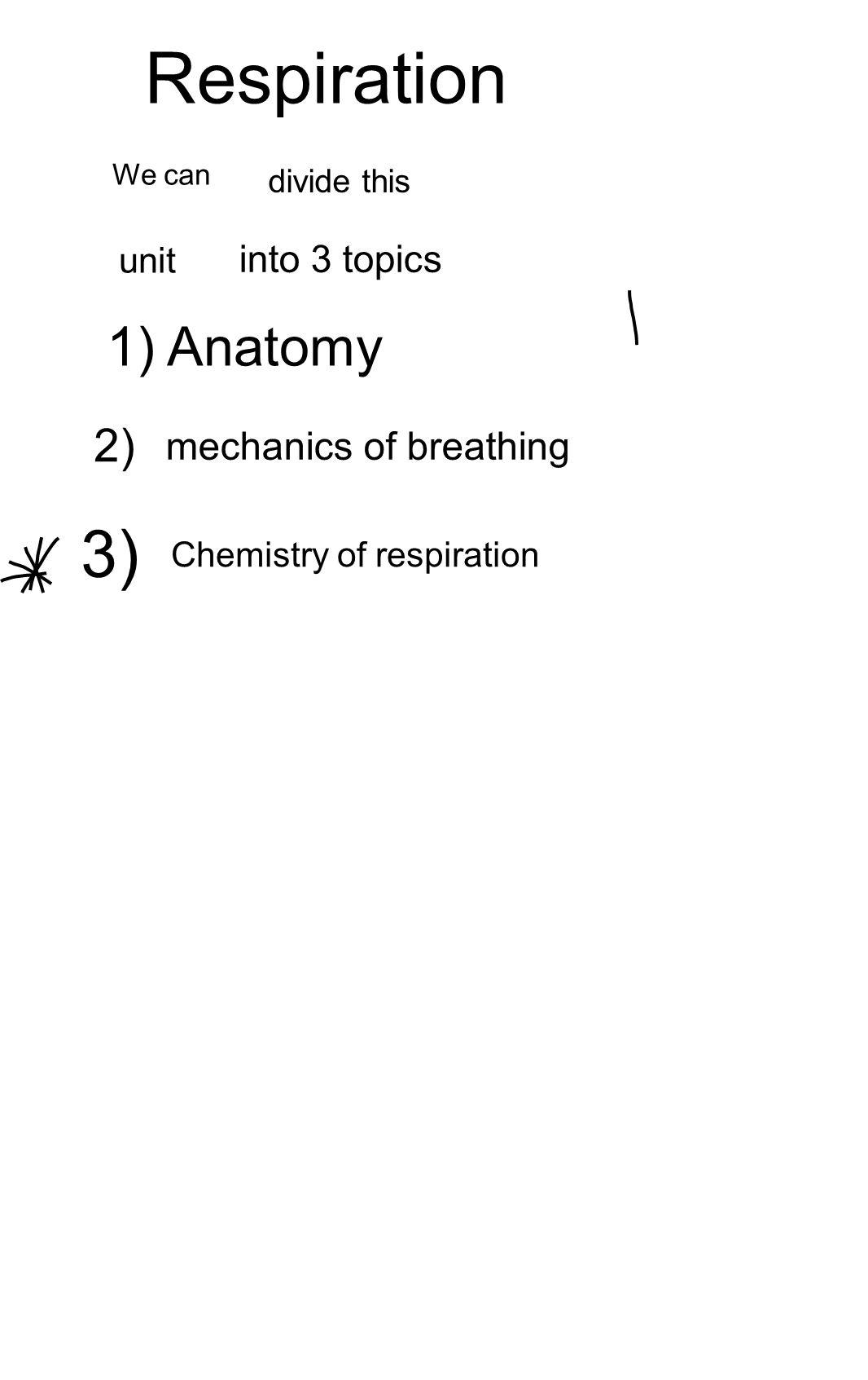 Respiration - Consists of 4 events l) Breathing (inhalation or inspiration / or expiration 2) External respiration exchange of gas between 1 and blood 3) Internal respiration The exchange of gases from the blood to the tissues 4) cellular respiration exhalation the alveoli (in the lungs)