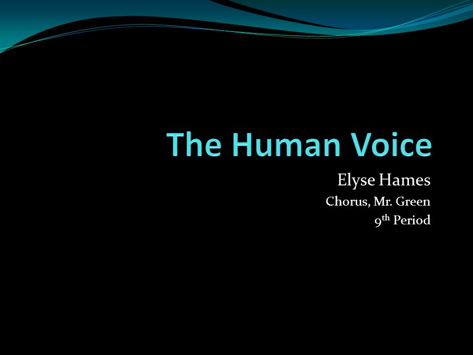 Elyse Hames Chorus, Mr. Green 9 th Period