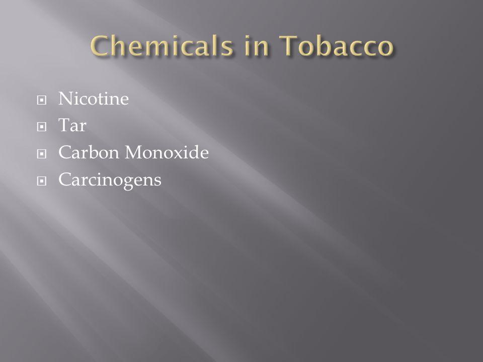  Nicotine  Tar  Carbon Monoxide  Carcinogens