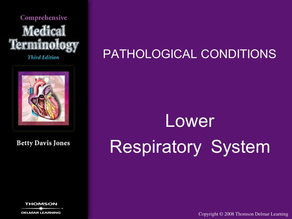 PATHOLOGICAL CONDITIONS Lower Respiratory System