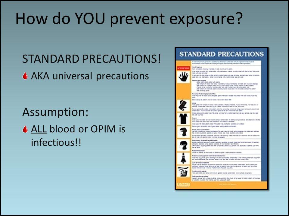 Work associated risks How do YOU prevent exposure.