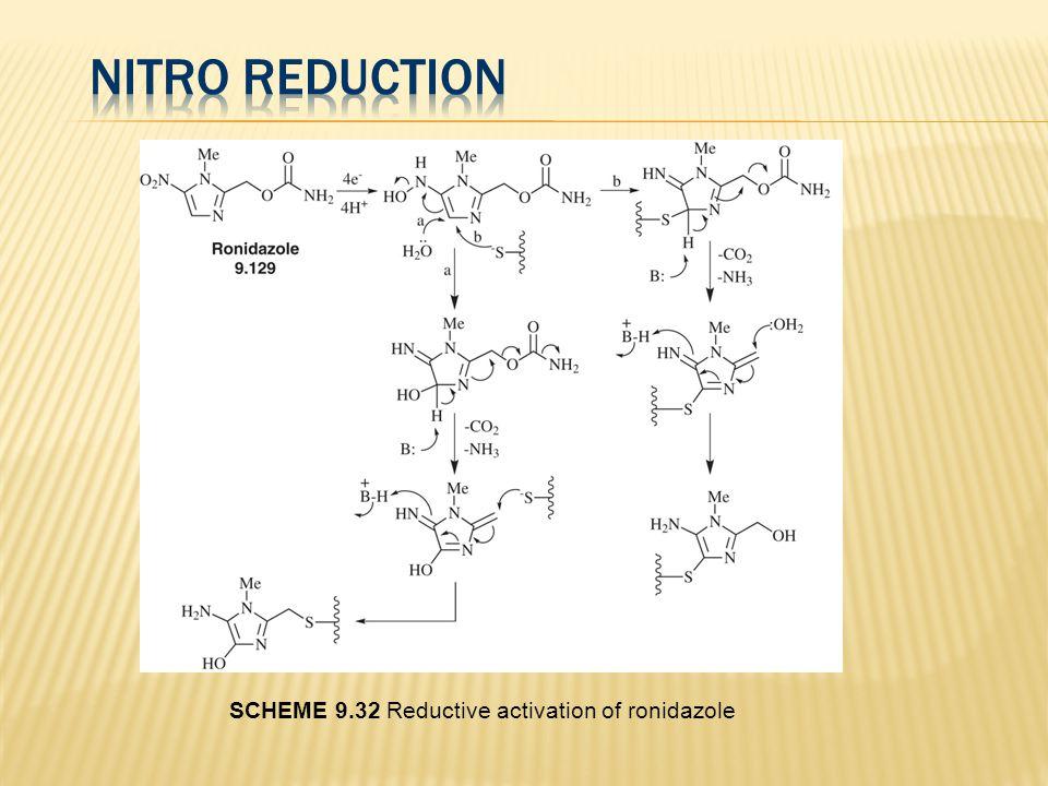 SCHEME 9.32 Reductive activation of ronidazole