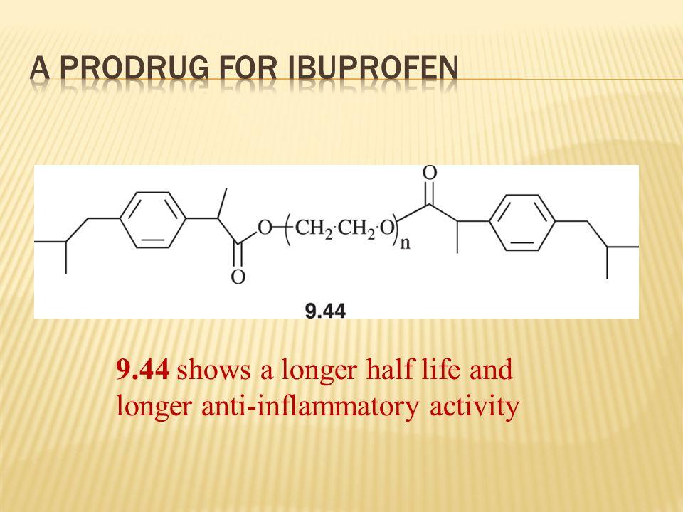 9.44 shows a longer half life and longer anti-inflammatory activity