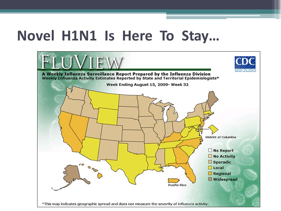 Current Diagnostic Tests Are Not Very Sensitive Current tests capable of detecting novel A (H1N1) virus from respiratory specimens have a low sensitivity (40%-69%) Thus a positive result is useful but a negative result does not rule out infection with novel H1N1 influenza virus http://www.cdc.gov/mmwr/preview/mmwrhtml/mm5830a2.htm