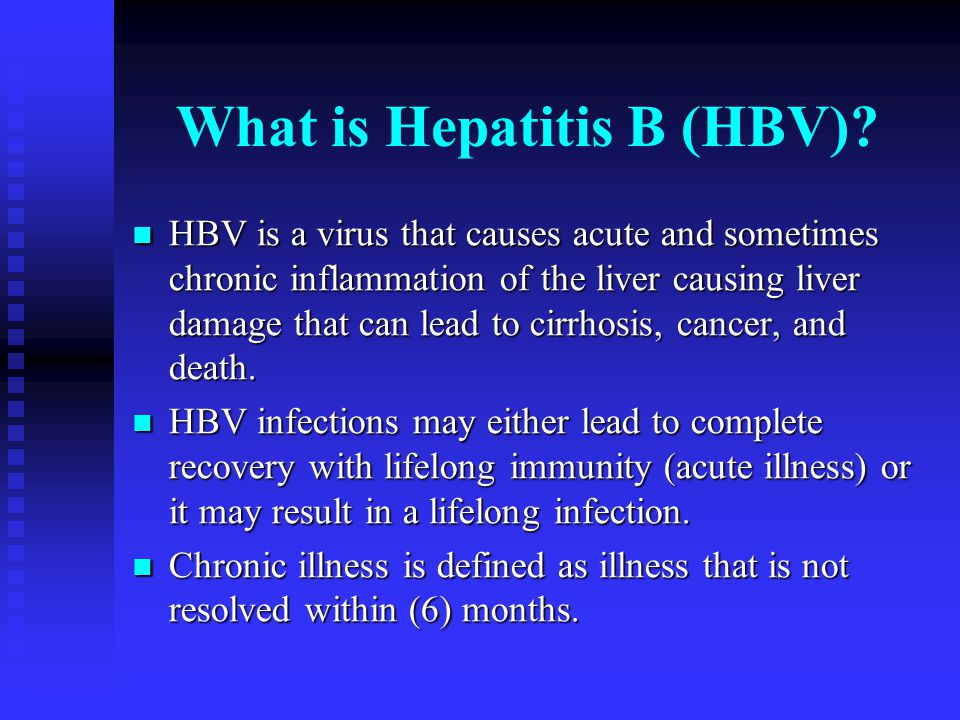Who is at risk.Persons whose sex partner has chronic hepatitis.