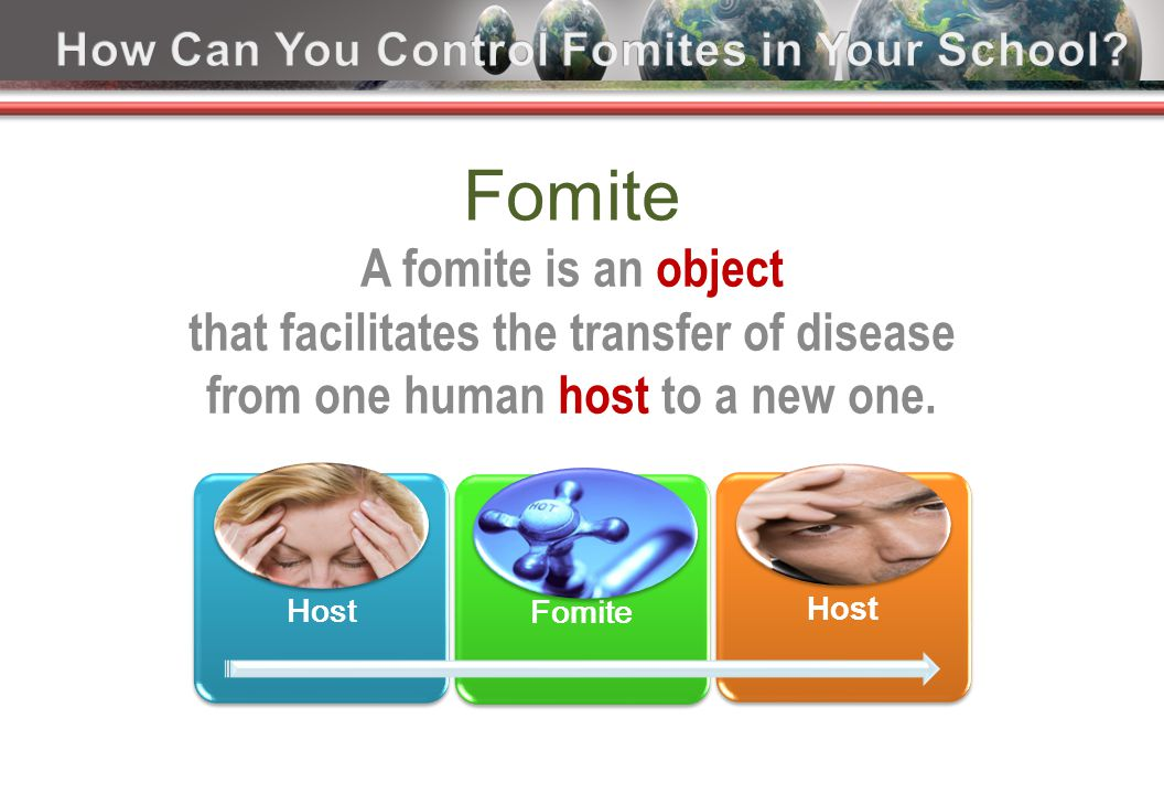 Fomite A fomite is an object that facilitates the transfer of disease from one human host to a new one.