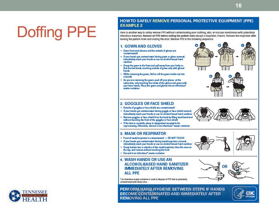 Doffing PPE 16