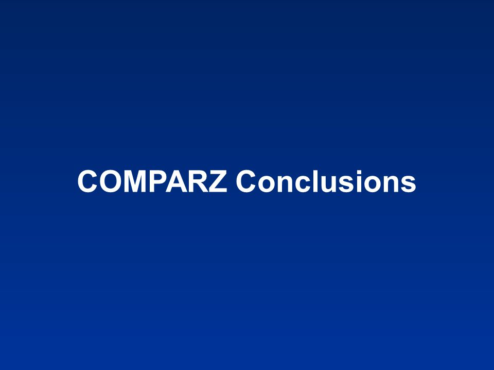 COMPARZ Conclusions