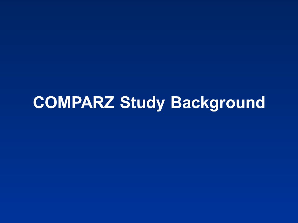 COMPARZ Study Background