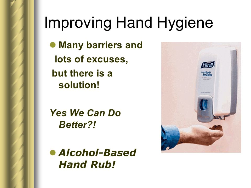Alcohol gel hand rubs These are an accepted alternative to soap and water when: hand washing facilities are not available.