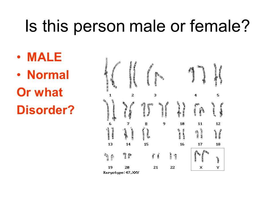 MALE Normal Or what Disorder?