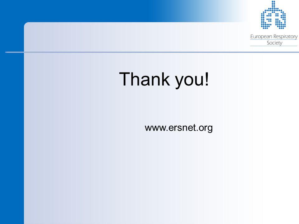 Thank you! www.ersnet.org