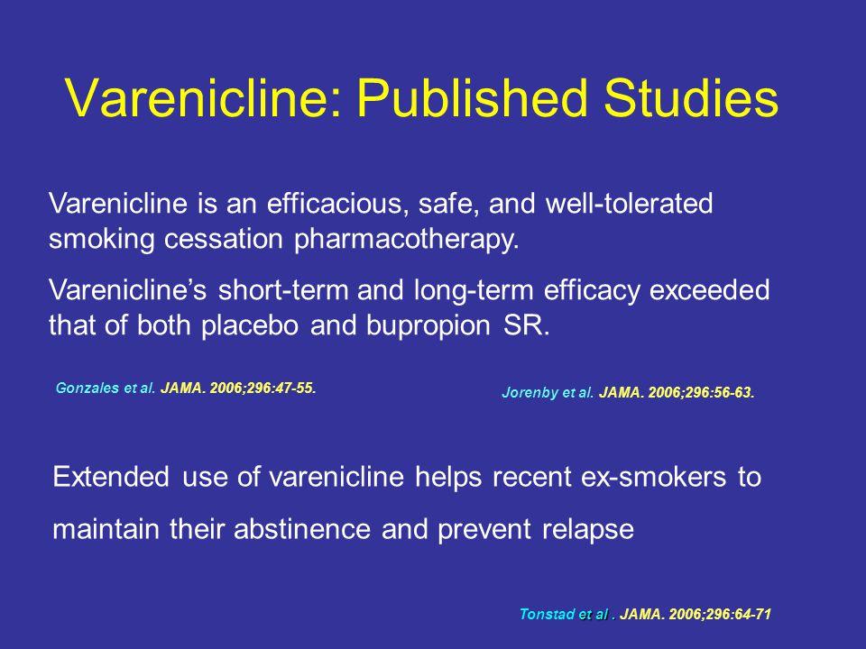 Varenicline: Published Studies Gonzales et al.JAMA.