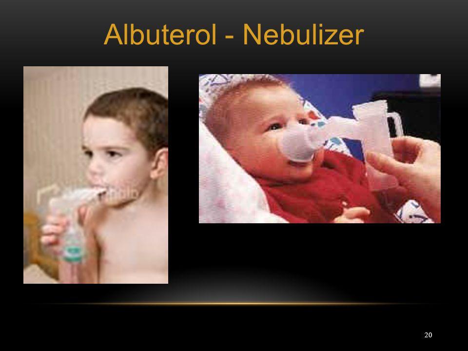 20 Albuterol - Nebulizer