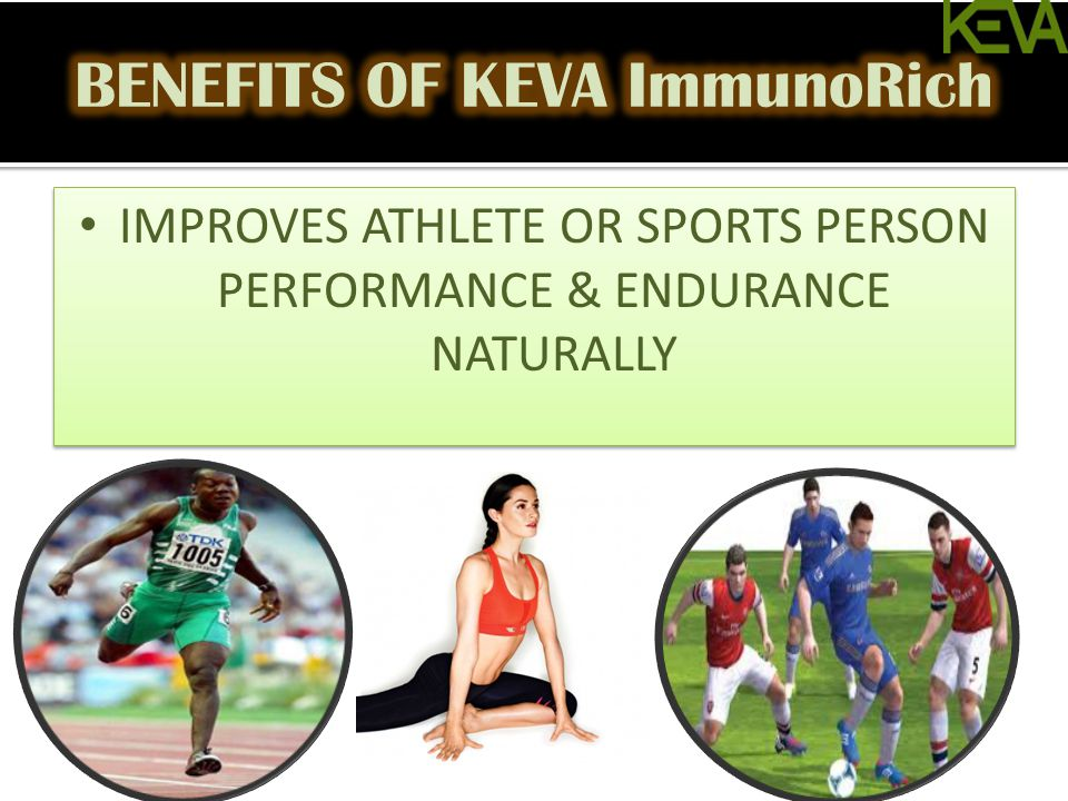 IMPROVES ATHLETE OR SPORTS PERSON PERFORMANCE & ENDURANCE NATURALLY