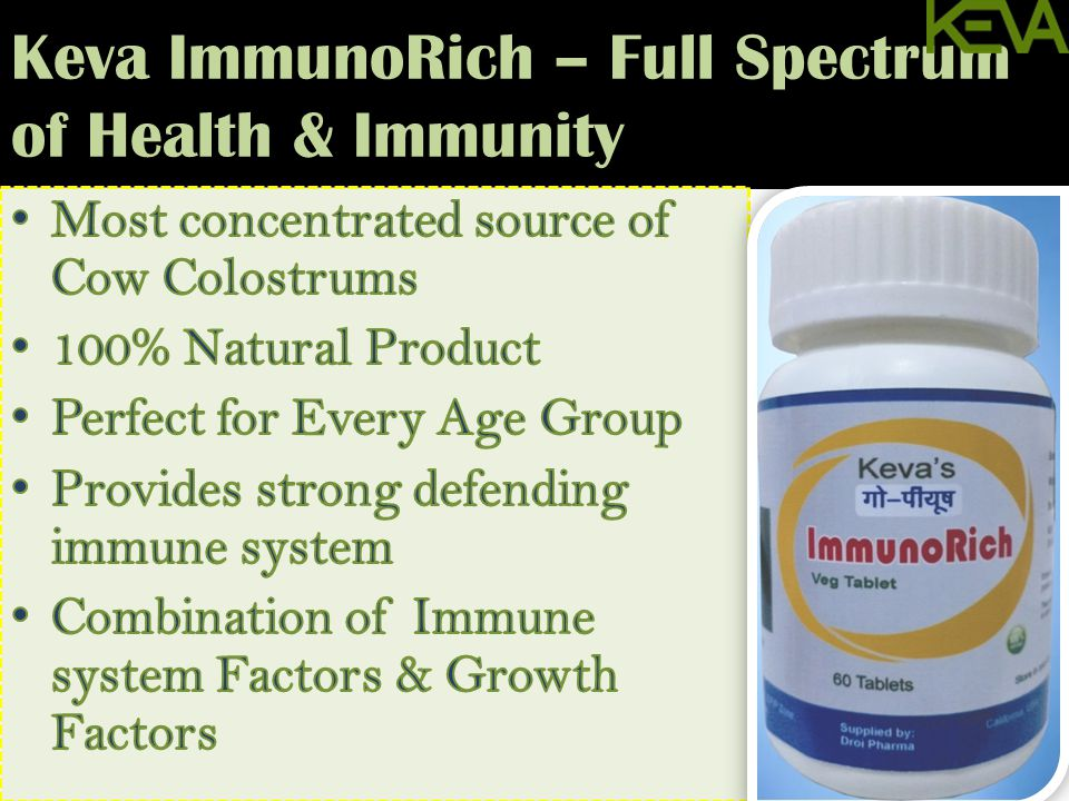 Keva ImmunoRich – Full Spectrum of Health & Immunity