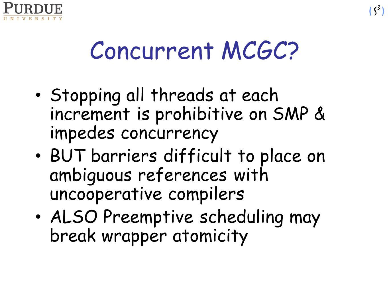 Concurrent MCGC.