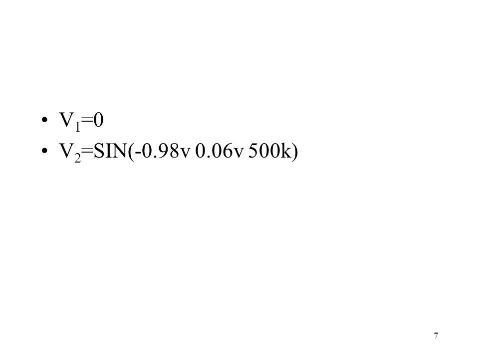 7 V 1 =0 V 2 =SIN(-0.98v 0.06v 500k)