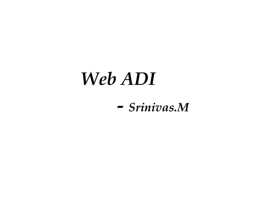 Web ADI - Srinivas.M