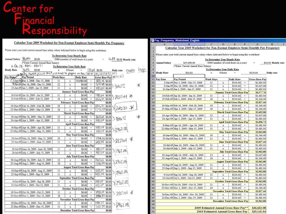 C enter for F inancial R esponsibility