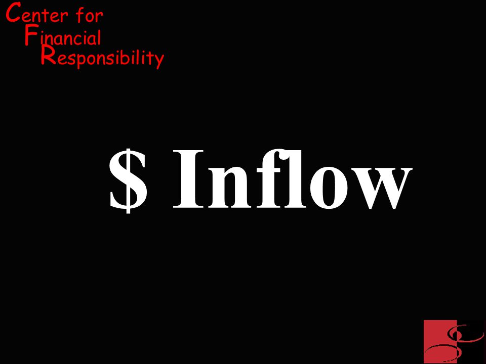 C enter for F inancial R esponsibility $ Inflow