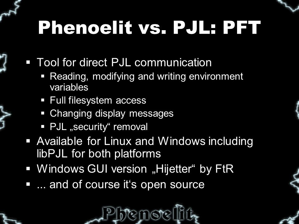Phenoelit vs.