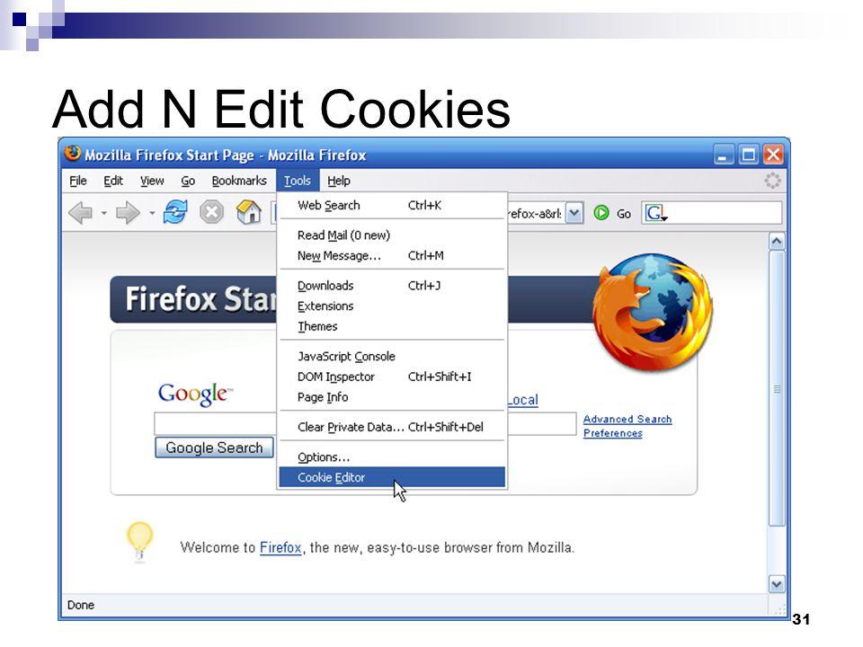 31 Add N Edit Cookies