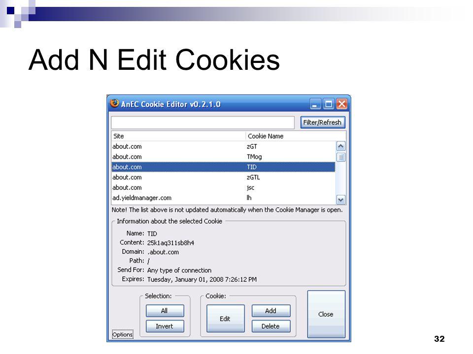 32 Add N Edit Cookies