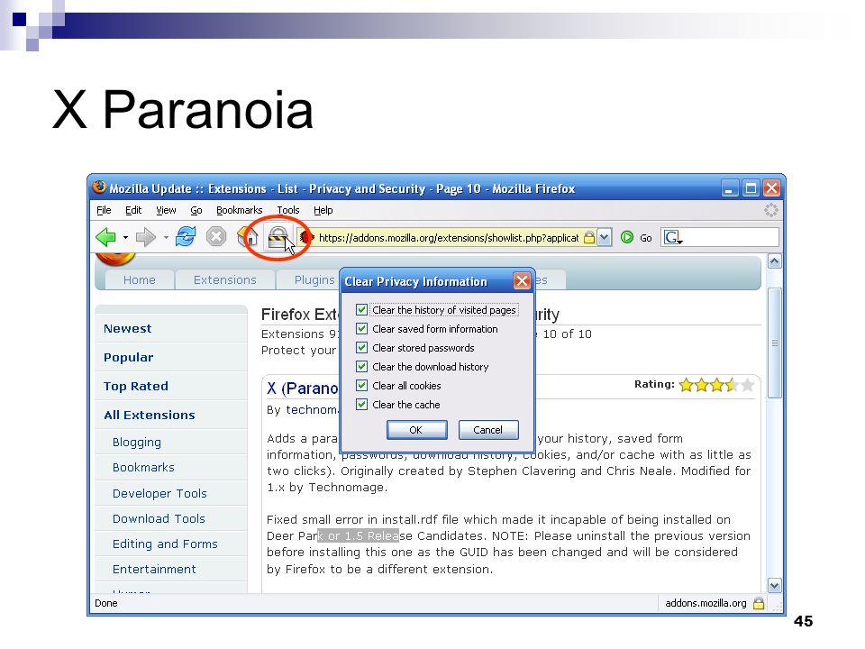 45 X Paranoia