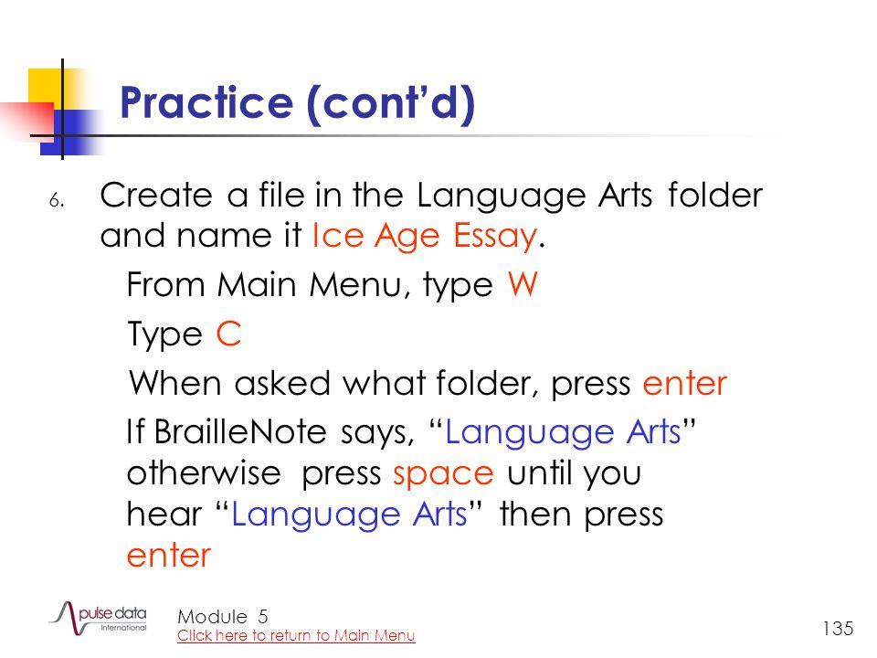 Module 135 Practice (cont'd) 6.