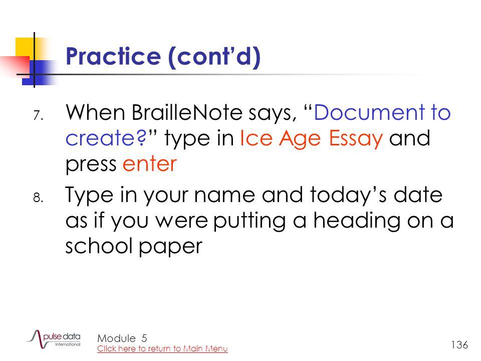 Module 136 Practice (cont'd) 7.