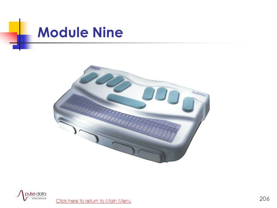 Module 206 Module Nine Click here to return to Main Menu