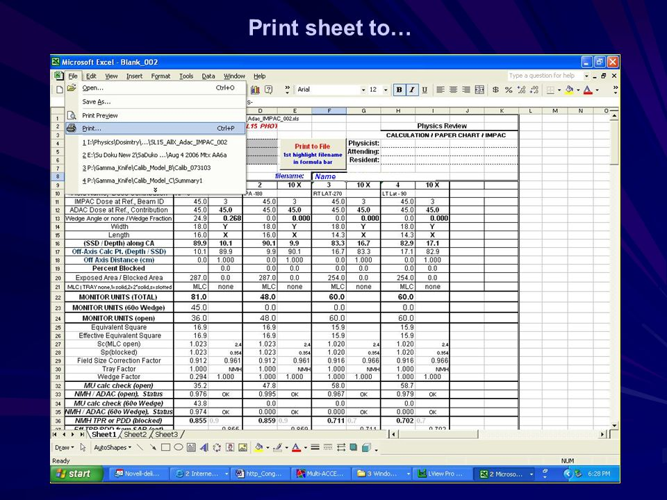Print sheet to… Name