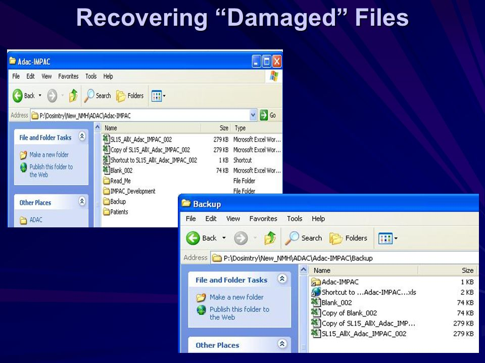 Recovering Damaged Files
