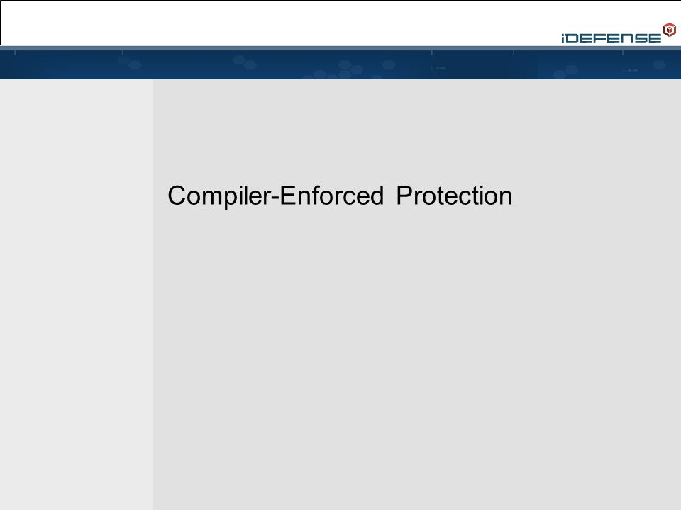Compiler-Enforced Protection