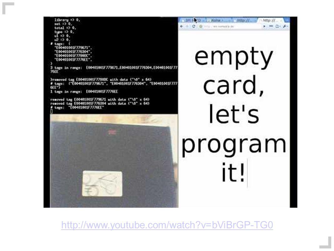 RFID + HTTP/JSONP http://www.youtube.com/watch?v=bViBrGP-TG0