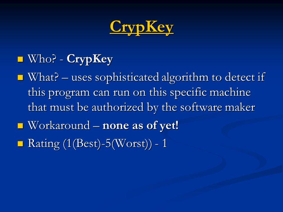 CrypKey Who. - CrypKey Who. - CrypKey What.